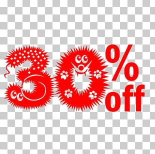 Cute Hairy Halloween 30% Off Discount Tag. PNG