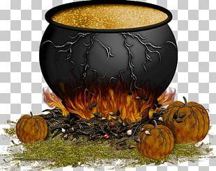 Cauldron Pumpkin Boszorkány Halloween Hexenkessel PNG