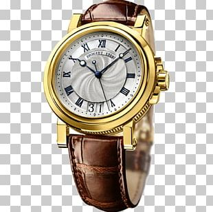 Breguet Automatic Watch Colored Gold Movement PNG