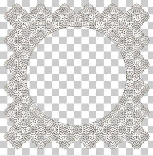 Lace Doily Frames Pattern PNG