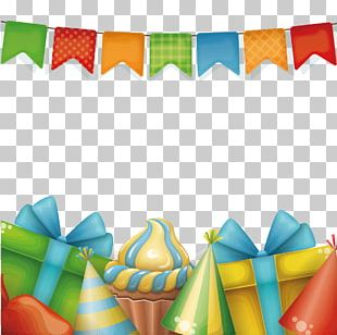 Birthday Cake Gift Greeting Card PNG