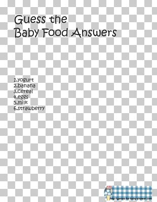 Baby Shower Infant Party Game Baby Food PNG