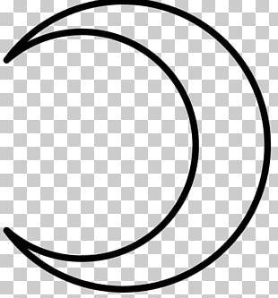 Crescent Moon Lunar Phase Alchemical Symbol PNG