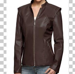 Leather Jacket Blouson Fashion PNG