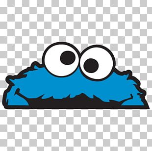 Cookie Monster Elmo Paper Sticker Decal PNG