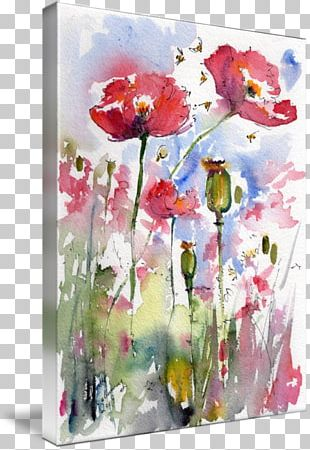 Floral Design Watercolor Painting Art PNG