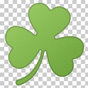 Emoji Shamrock Four-leaf Clover Noto Fonts PNG