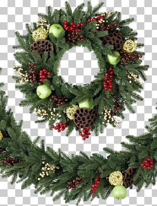 Balsam Hill Artificial Christmas Tree Wreath Garland PNG