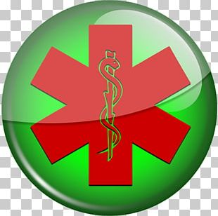 Star Of Life Emergency Medical Services Red Paramedic Green PNG
