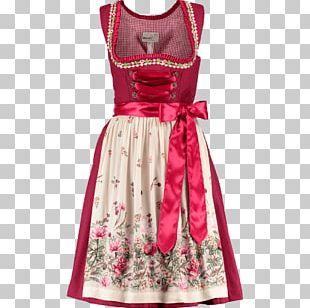 Dirndl Cocktail Dress Folk Costume Marjo Leder & Tracht PNG
