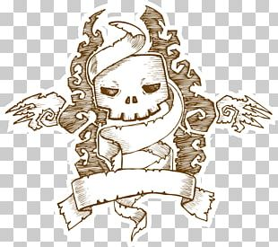 Hand-drawn Characters Halloween PNG