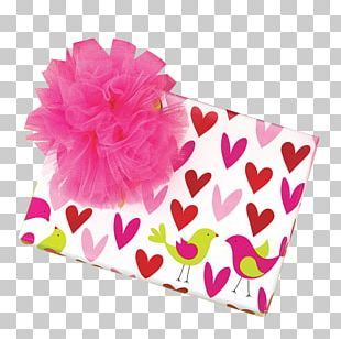 Paper Gift Wrapping Valentine's Day Ribbon PNG