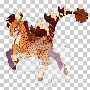 Giraffe Horse Mammal Cartoon PNG
