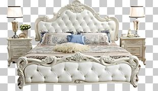 Nightstand Bed Furniture Room PNG