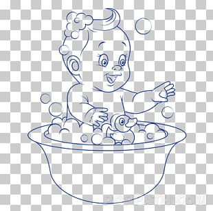 Drawing Bathing Line Art Coloring Book PNG