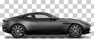 Aston Martin DB 11 Grey Side View PNG