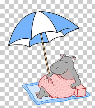 Beach Illustration Umbrella Cartoon PNG
