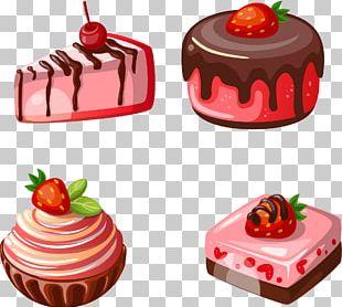 Petit Four Waffle Strawberry Cake PNG