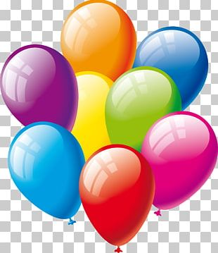 Balloon Birthday Party Gift PNG