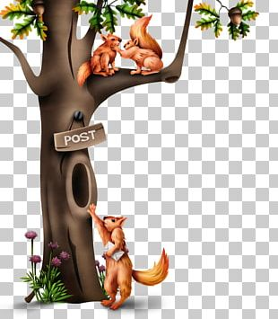 Tree Hollow Tree Squirrels PNG