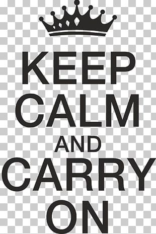 Wall Decal Logo Keep Calm And Carry On PNG