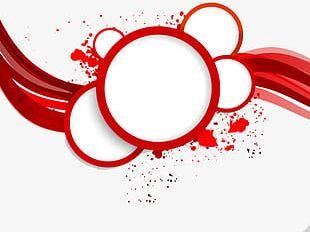Red Circular Border PNG
