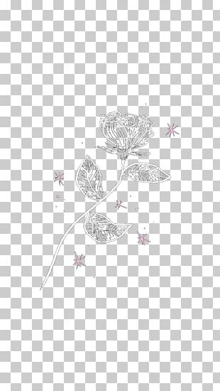 Flower Blue Rose Petal Sticker PNG