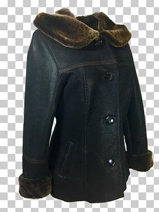 Leather Jacket Sheepskin Coat Fur Clothing PNG