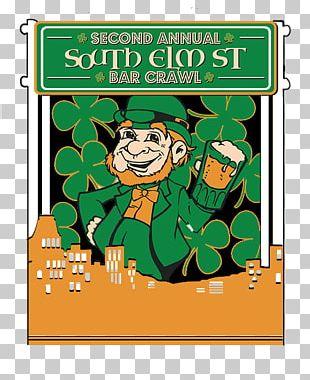 Saint Patrick's Day Pub Crawl Graphic Design PNG