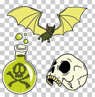 Halloween Bat Poison PNG