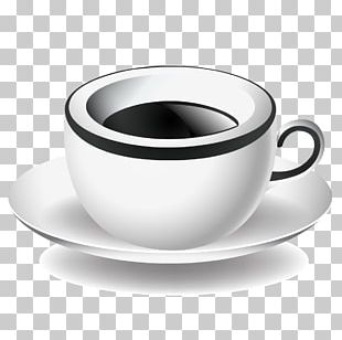White Coffee Ristretto Espresso Coffee Cup PNG