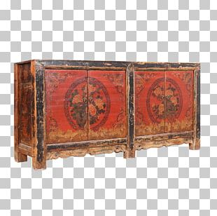 Buffets & Sideboards Wood Stain Antique Rectangle PNG