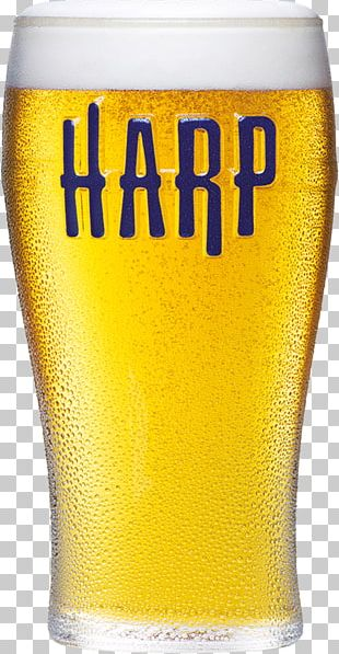 Harp Lager Wheat Beer Pint Glass PNG