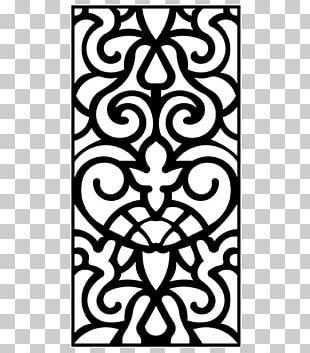 Latticework Stencil Wall Pattern PNG