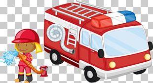 Fire Engine Poster Cartoon PNG