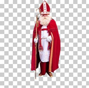 Santa Claus Saint Nicholas Day Gift Evening Gown December 6 PNG