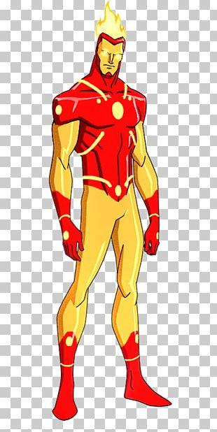 Firestorm Superhero Iron Man Justice League Art PNG
