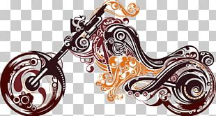 Motorcycle Abstract Art Tattoo PNG