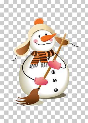 Santa Claus Christmas Snowman Illustration PNG