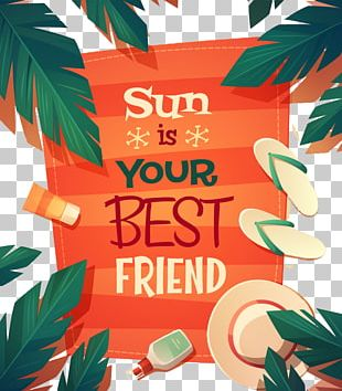 Poster Beach Summer Graphic Design PNG