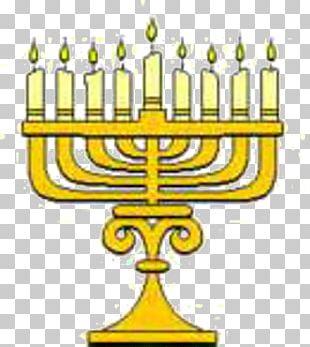 Celebrate Hanukkah Menorah Dreidel PNG