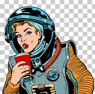 Fizzy Drinks Graphics Illustration Pop Art Astronaut PNG