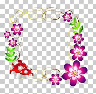 Floral Design Frames Cut Flowers Body Jewellery PNG