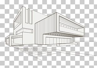 Drawing Building Architecture Sketch PNG