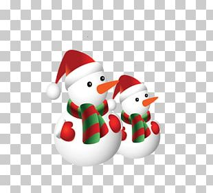 Christmas Card Snowman PNG