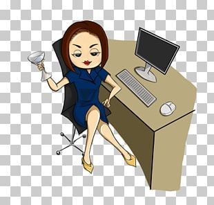 Office Lady Art Mail PNG