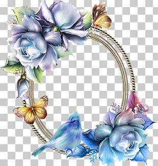 Blue Rose Flower Frames PNG