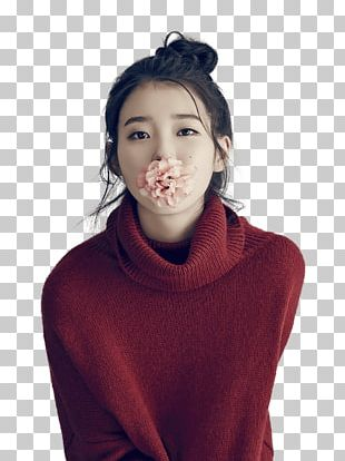 IU Flower In Mouth PNG