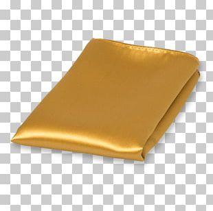 Einstecktuch Necktie Satin Gold Polyester PNG