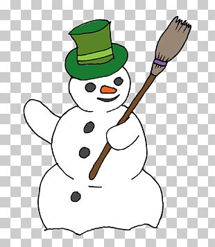 Snowman Broom PNG